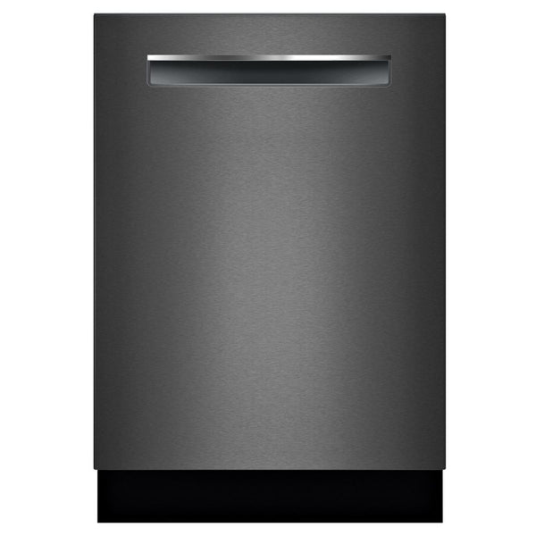 Bosch - 800 Series Top Control Tall Tub Pocket Handle Dishwasher - Black