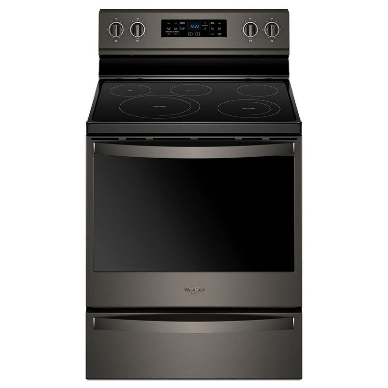 Whirlpool - 6.4 cu. ft. Electric Range with Frozen Bake Technology - Black