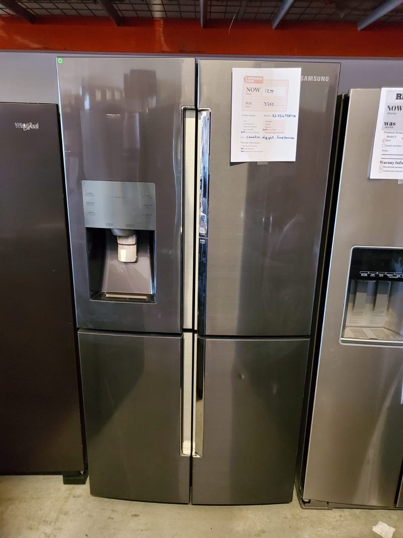Samsung-22.1 Cu. Ft. 4 Door Flex French Door Counter Depth Refrigerator with Food ShowCase-Stainless