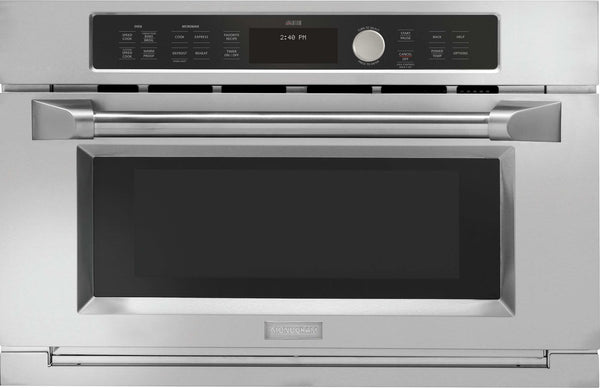 "GE - Advantium 30"" Stainless Steel Electric Single Wall Oven - Speed Oven - Silver"