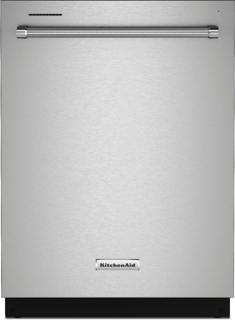 "KitchenAid - 24"" Top Control Built-In Dishwasher with Stainless Steel Tub, FreeFlex™, 3rd Rack, 44dBA - Stainless Steel With PrintShield Finish"