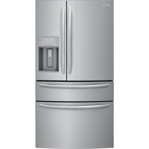 Frigidaire - 36 in. W 21.7 cu. ft. 4-Door French Door Refrigerator - Stainless Steel