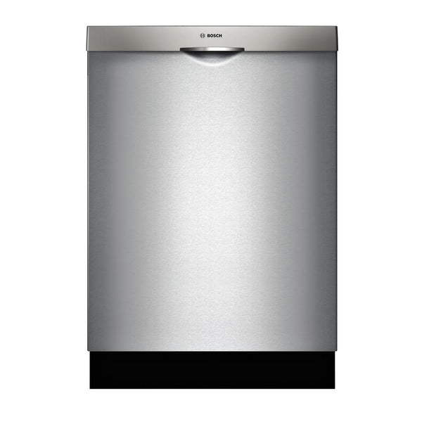 "Bosch - 300 Series 24"" Scoop Handle Dishwasher with Stainless Steel Tub - Stainless steel - Appliances Club"