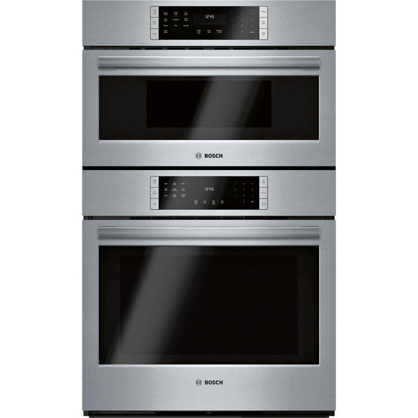 Bosch - 800 Series 30 in. Combination Electric Wall Oven - Stainless Steel