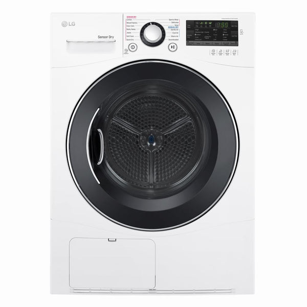 LG - 4.2 Cu. Ft. 9 Cycle Electric Dryer - White - Appliances Club