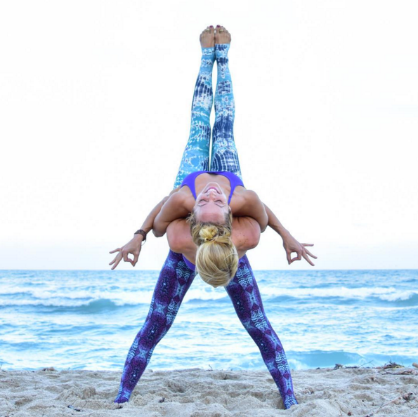 Beach Yoga Girl