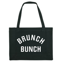 BRUNCH BUNCH, black shopper bag. Made from 100% recycled material. - Hey! Holla