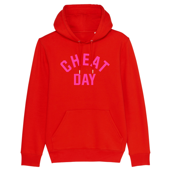 CHEAT DAY Red Hoodie - Christmas Edition Red/Pink - Hey! Holla