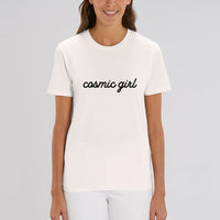 COSMIC GIRL  | 100% Organic Cotton White Slogan T-Shirt - Hey! Holla