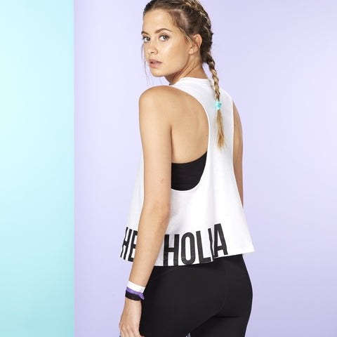 HEY! HOLLA HOT TOP White/Black O/S (Fits 6-12)