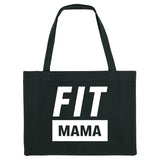 FIT MAMA, black gym bag. Made from 100% recycled material. - Hey! Holla