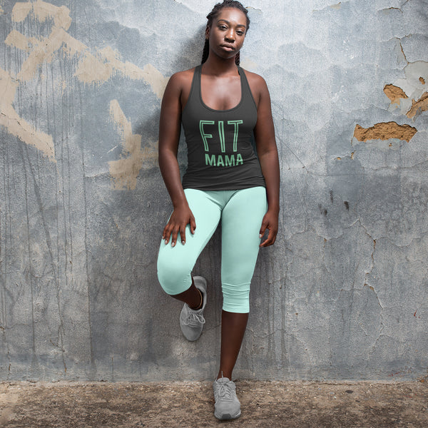 FIT MAMA  |  Organic Cotton Grey Racerback Vest - Hey! Holla