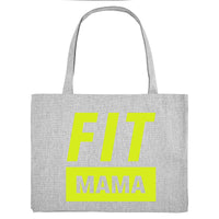 FIT MAMA, grey gym bag. Made from 100% recycled material. - Hey! Holla