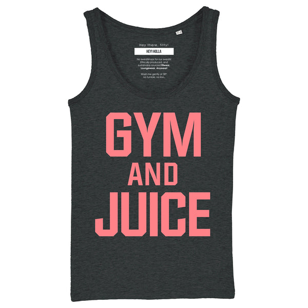 GYM AND JUICE  |  Organic Cotton Grey Racerback Vest - Hey! Holla