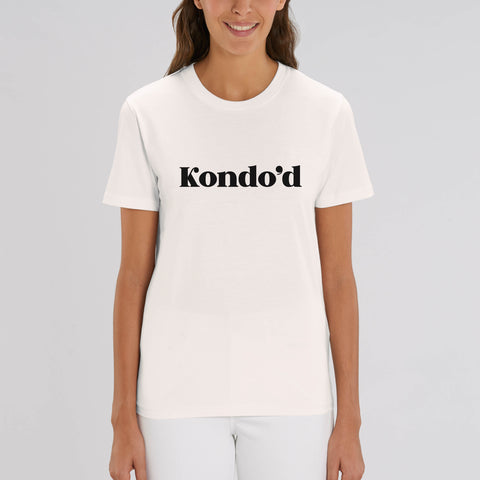 Kondo 'd I 100% Organic Cotton White Slogan T-Shirt - Hey! Holla