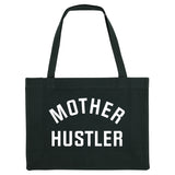 MOTHER HUSTLER, black shopper bag. Made from 100% recycled material. - Hey! Holla