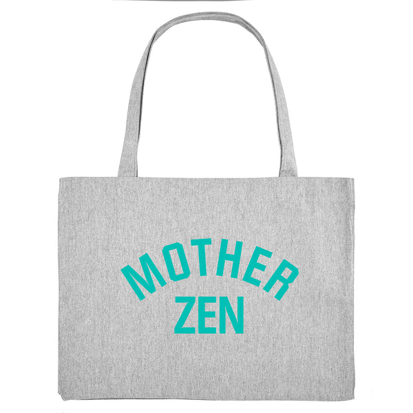 MOTHER ZEN, grey gym bag. Made from 100% recycled material. - Hey! Holla