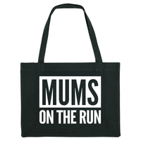 MUMS ON THE RUN, black gym bag. Made from 100% recycled material. - Hey! Holla