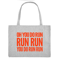 YOU DO RUN RUN RUN, grey gym bag. Made from 100% recycled material. - Hey! Holla