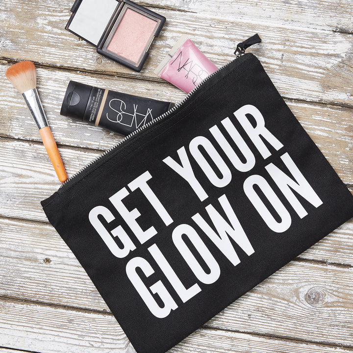 GET YOUR GLOW ON Pouch, Monochrome - Hey! Holla