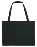 EAT. SLEEP. CHANGE. GIN. Black shopper bag. Made from 100% recycled material. - Hey! Holla