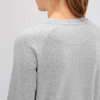 TOM GIRL | Organic Cotton Grey Slogan Sweatshirt - Hey! Holla