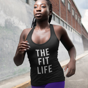 THE FIT LIFE  |  Organic Cotton Black Racerback Vest - Hey! Holla
