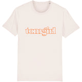 TOM GIRL  | 100% Organic Cotton White Slogan T-Shirt - Hey! Holla