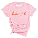 HOMEGIRL Women's Charity Slogan T-shirt | 100% Organic Cotton, Pink/Orange - Hey! Holla