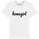 HOMEGIRL Women's Charity Slogan T-shirt | 100% Organic Cotton, White/Black - Hey! Holla