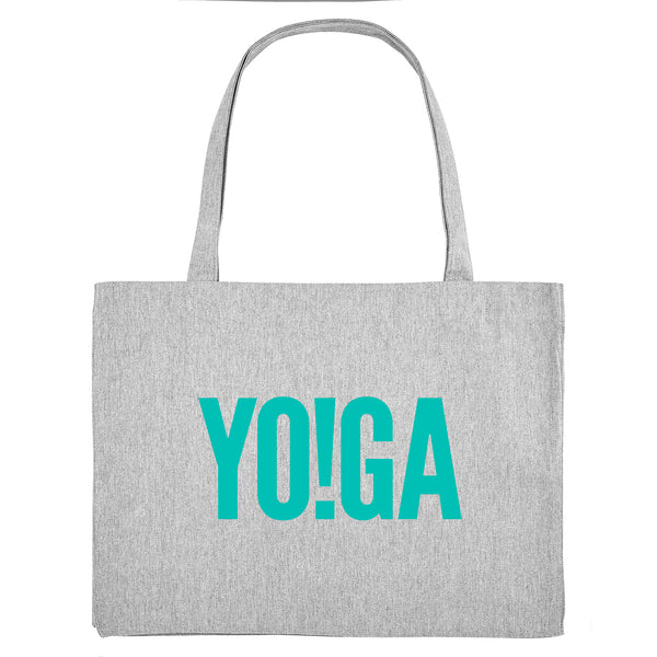 YO!GA, grey gym bag. Made from 100% recycled material. - Hey! Holla