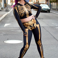 Legginsit Gold Skeleton