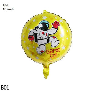 Outer Space Theme Birthday Party Astronaut Rocket Ship Foil Balloons Galaxy Solar System