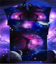 Load image into Gallery viewer, Galaxy 3D Bedding Set Universe Outer Space  Print  Duvet Cover & pillow case Twin or Queen size