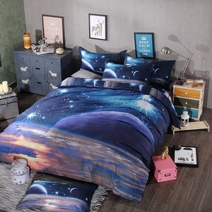 Galaxy 3D Bedding Set Universe Outer Space  Print  Duvet Cover & pillow case Twin or Queen size