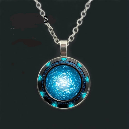 Glow in the dark necklace pendant,  Atlantis Necklace Jewelry
