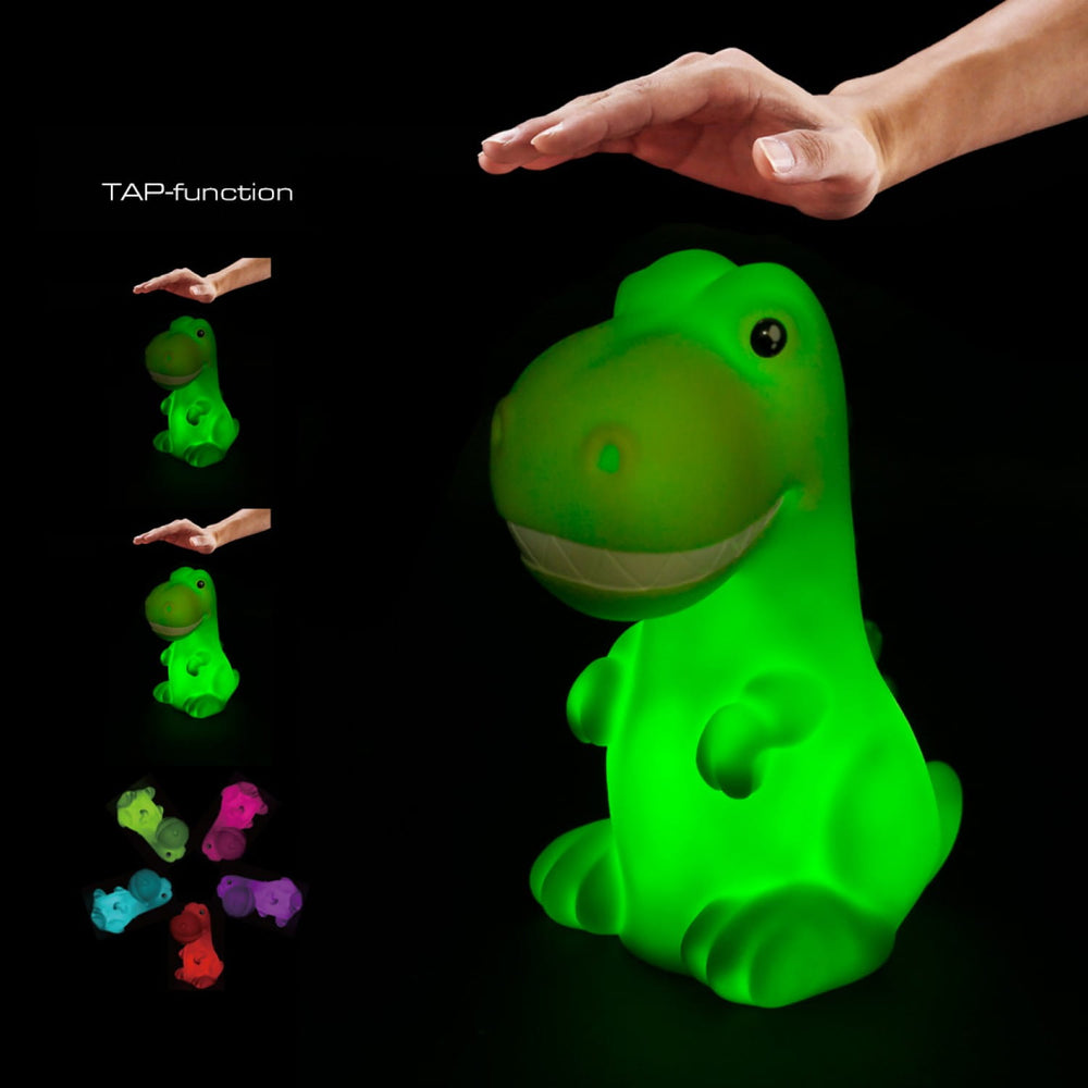 Children's | Colour changing night light - Green dinosaur