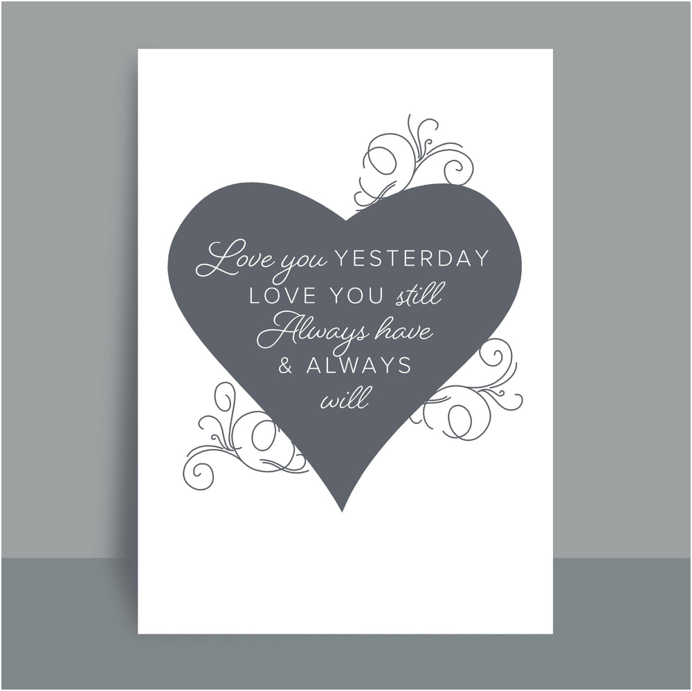 A4/A3 Prints | Love you yesterday