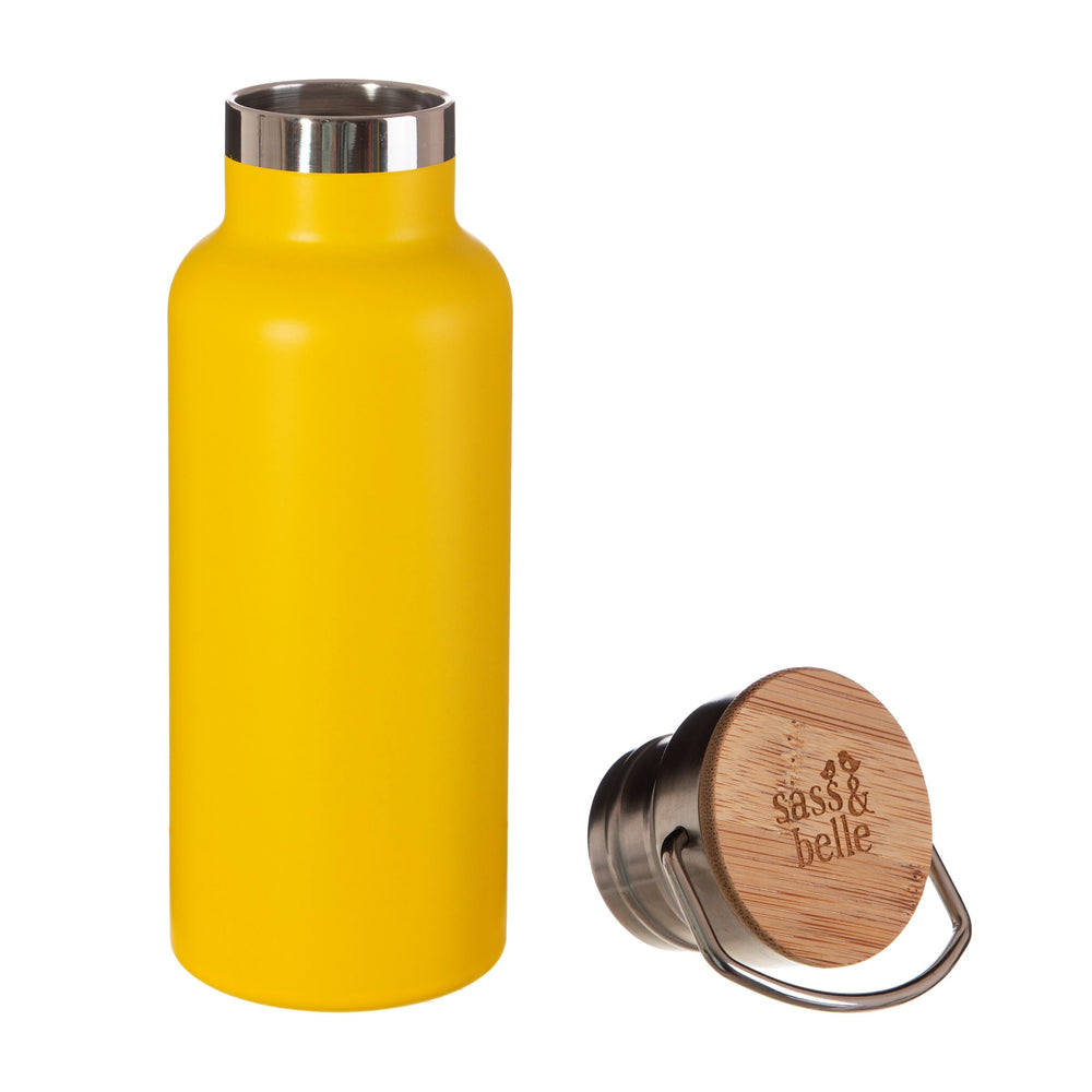 Gifts | Mustard yellow steel water bottle