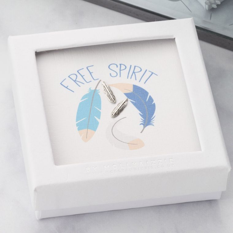 Jewellery | Free spirit silver feather studs