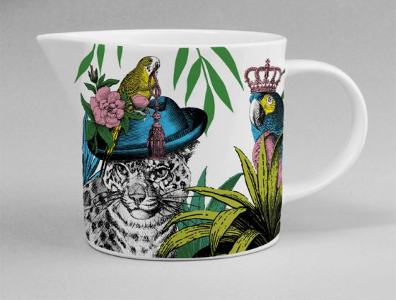 Gifts | Repeat Repeat bone china Jungle jug leopard
