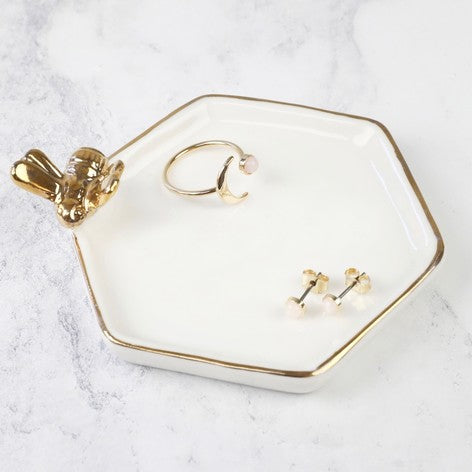 Gifts | Hexagonal bee trinket dish