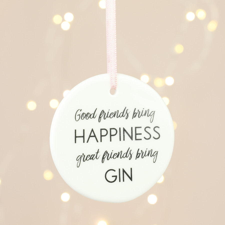 Gifts | Great friends bring gin hanging decoration