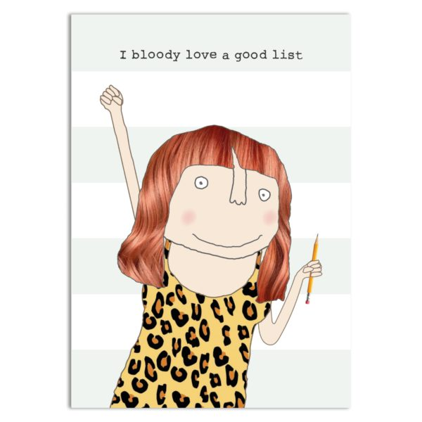 Gifts | Bloody love list lined bound notebook