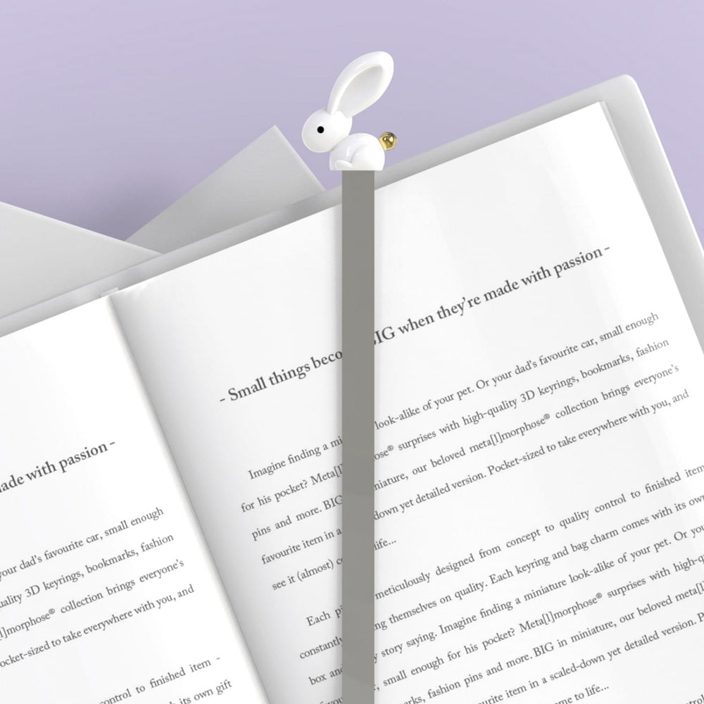 Gifts | Silver bunny 3D bookmark