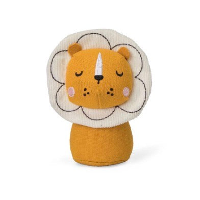 Children's | Orange and white lion rattle
