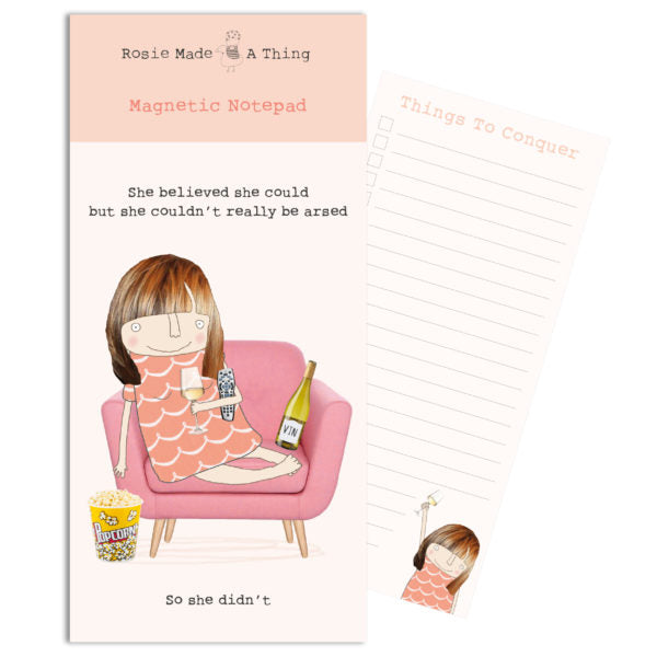 Gifts | She believed she could magnetic shopping list