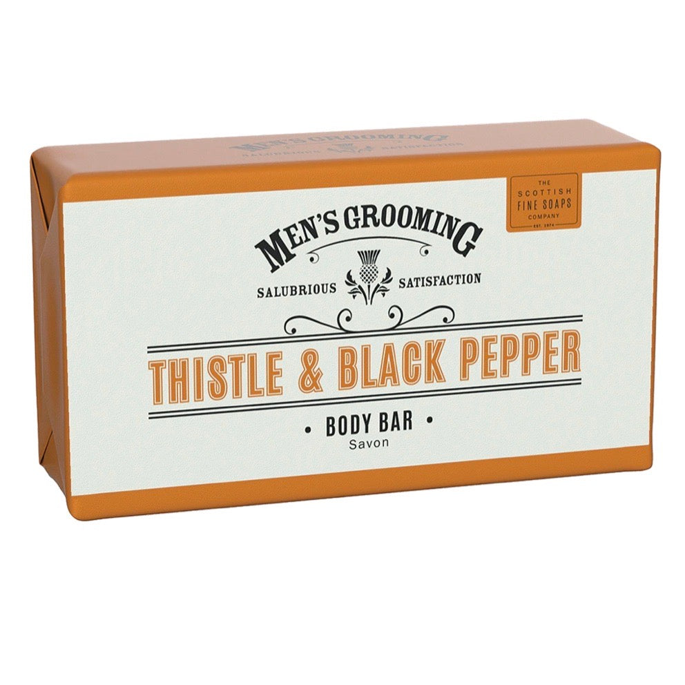 Mens | Thistle  and Black pepper body bar soap