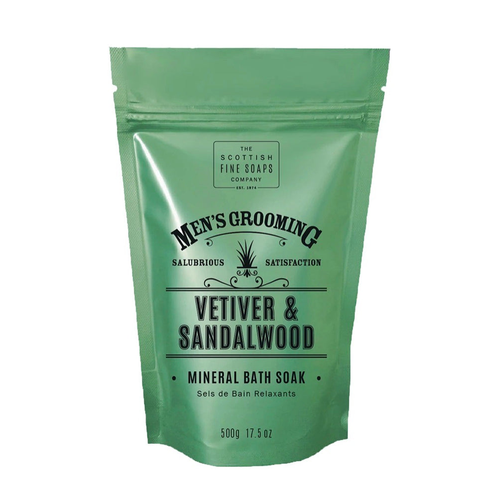 Mens | Vetiver and Sandalwood mineral bath soak