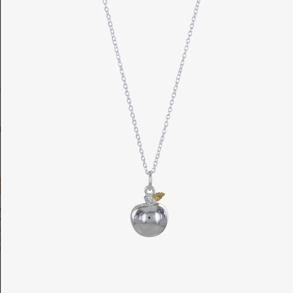 Jewellery | Sterling silver apple charm necklace